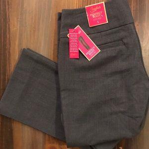 Gray Bootcut Dress Pants